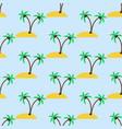desert island pattern vector image vector image