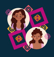 diversity women cute girls different ethnicity vector image vector image