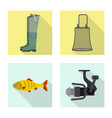 fish and fishing symbol vector image