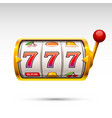 golden slot machine wins the jackpot isolated on vector image vector image