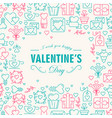 greeting valentines day decorative card vector image vector image