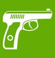 gun icon green vector image vector image
