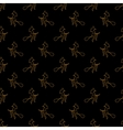 halloween different linear seamless pattern vector image vector image