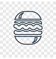 hamburger concept linear icon isolated on vector image