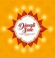happy diwali sale with mandala vector image