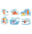 happy people men and women at yacht party vector image vector image