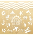 happy summer holiday icons for summer vector image vector image