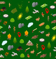 hiking in a park concept seamless pattern vector image vector image