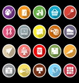Hobby icons with long shadow vector image vector image