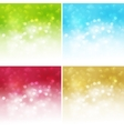 Holiday bokeh Abstract Christmas background vector image