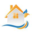 house home environment friendly logo vector image vector image