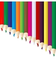 Line of colored pencils vector image vector image