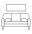 living room sofa icon outline style vector image vector image