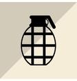 Military grenade design vector image vector image