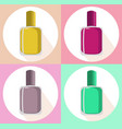 nail polish set icon template colorful vector image