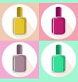 nail polish set icon template colorful vector image vector image