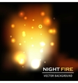 night fire background vector image vector image