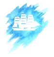 Old Ship on Blue Background vector image