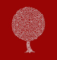 outline decoration isolated tree concept vector image