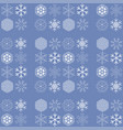 pattern with snowflakes on blue background vector image vector image