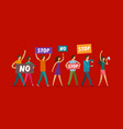 people participate in public protest vector image vector image