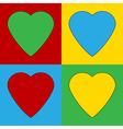 Pop art heart icons vector image vector image