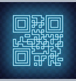 qr code sample for smartphone scanning isolated vector image