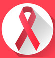 red symbolic ribbon vector image vector image