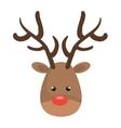 reindeer christmas character icon vector image