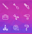 repair outline icons set collection of paint vector image