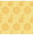 Seamless pattern with Christmas bell with holly vector image vector image