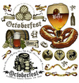 set of beer elements vector image vector image