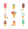 Set of ice cream icons vector image