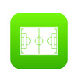 soccer field icon digital green vector image vector image