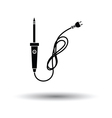 Soldering iron icon vector image vector image