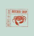 stock crab cuts diagram vector image vector image