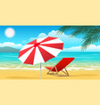 summer paradise landscape vector image vector image