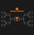 tournament bracket basketball championship scheme vector image vector image