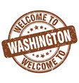 welcome to washington brown round vintage stamp vector image vector image