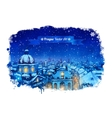 Winter Prague cityscape vector image vector image