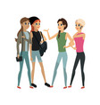 young adults having a conversation vector image vector image