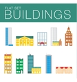 Building icon set Abstract architecture vector image