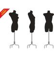 Three tailor dummy vector image