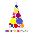 abstract christmas tree made of balls of different vector image vector image