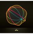 Abstract Polygonal Futuristic Design Lattice vector image vector image