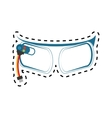 ar glasses virtual reality device technology vector image vector image