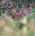background soap bubbles vector image vector image