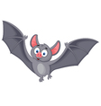 Bat cartoon flying vector image vector image