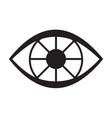 black eye icon vector image vector image