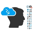Brainstorming Icon With Free Bonus vector image vector image